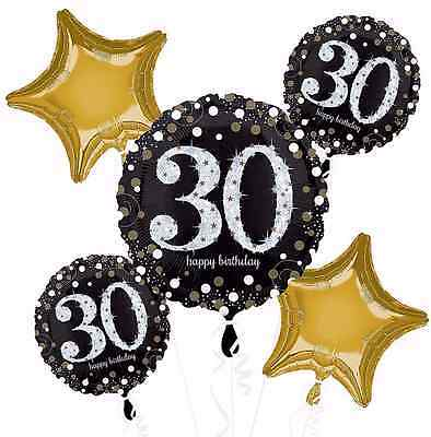 Sparkling Celebration 30th Birthday Balloon Bouquet Party Decorations Supplies
