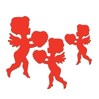 **6 VALENTINE'S Day CUPID Decorations*DIE-CUTS*Cutouts*