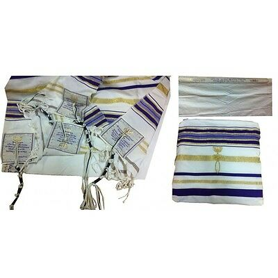 Purple Prayer Shawl Messianic Christian Sign Tallit With Bag 72*22