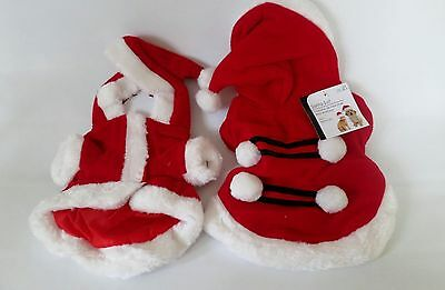 Adorable Christmas Costumes Dogs Fancy Dress Santa Cat Xmas Outfit Clothes Pets