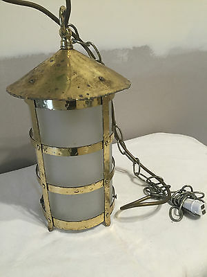 Vintage Brass Hang Up Lantern / Lamp