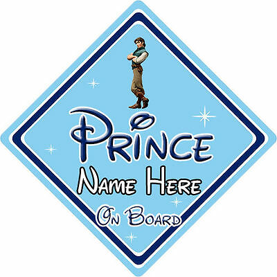 Personalised Disney Prince On Board Car Sign - Tangled Prince Eugene