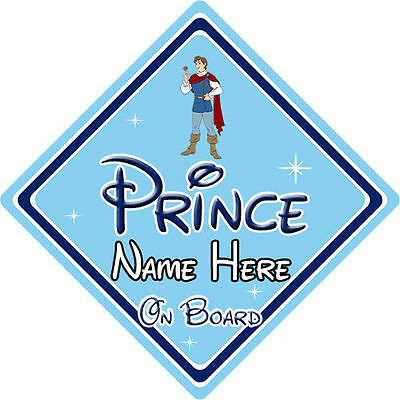 Personalised Disney Prince On Board Car Sign - Snow White Prince Ferdinand