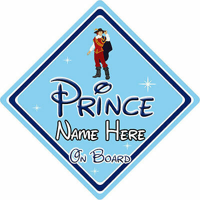 Personalised Disney Prince On Board Car Sign - Pocahontas Prince John Rolfe