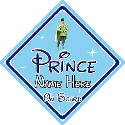 Personalised Disney Prince On Board Car Sign - Princess & The Frog Naveen