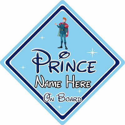 Personalised Disney Prince On Board Car Sign - Sleeping Beauty Prince Phillip