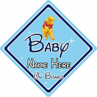 Personalised Disney Baby On Board Car Sign – Winnie The Pooh