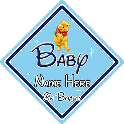 Personalised Disney Baby On Board Car Sign - Winnie The Pooh