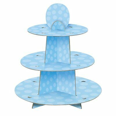 Blue Polka Dot Baby Shower Cupcake Stand
