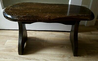 Vintage wooden stool rustic look