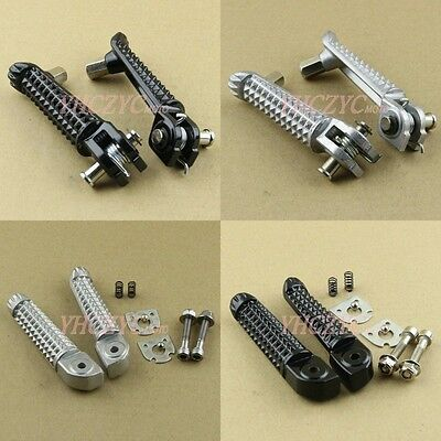 Front Rider Rear Passenger Foot Pegs Rest for Yamaha YZF R1 R6 98-17 / R6S 03-08