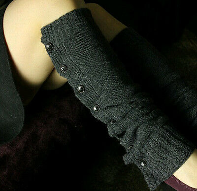 Women Leg Warmer Gifts Knitted Socks Button Crochet Leggings Winter Boot Toppers