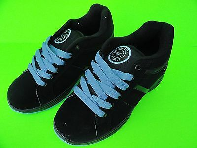 Air Boys & Girls Black/ L.Blue Roller Wheel Sneakers Shoes Size 5.5 - 8 On Sale