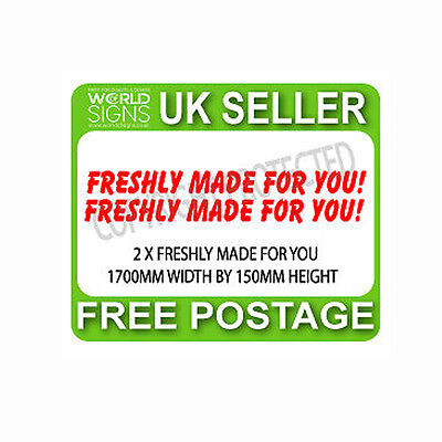 ice cream van sticker FRESHLY MADE FOR YOU WORDING IN RED