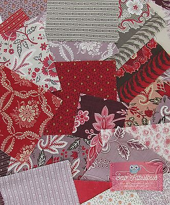 "Moda Charm pack 42 of 5"" 100% Cotton Fabric Squares Ville Fleurie French General"