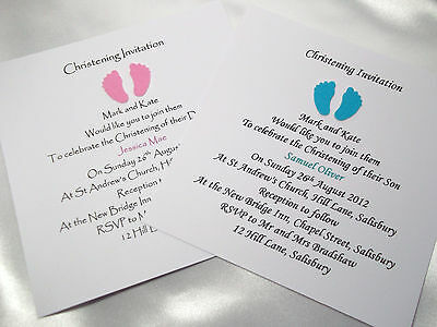 Personalised Boy/Girl/Twins Christening/Baptism/Naming Day Invitations