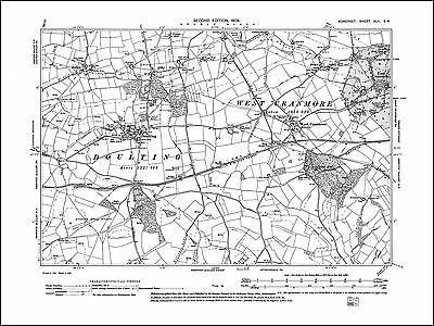 East and West Cranmore, Doulting, old map Somerset 1904: 42SW repro