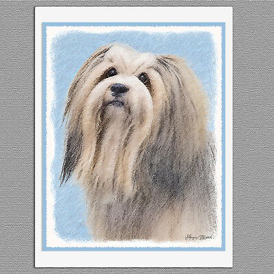 6 Havanese Dog Silver Blank Art Note Greeting Cards