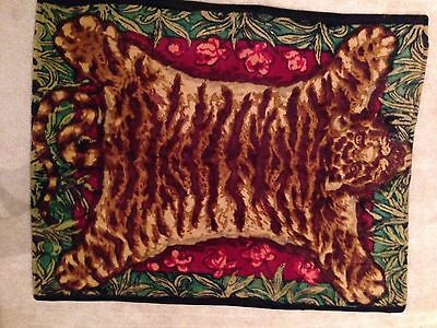Antique Chase Tiger Mohair Carriage Buggy Lap Blanket - Robe - Animal Collection