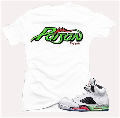 100% authentic fddc0 41510 Shirt to match Air Jordan Retro 5 Poison Green sneakers