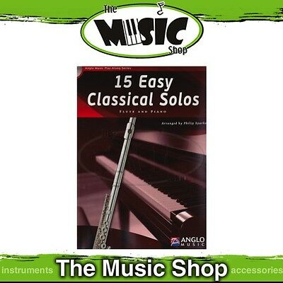 New 15 Easy Classical Solos for Flute Music Book & CD