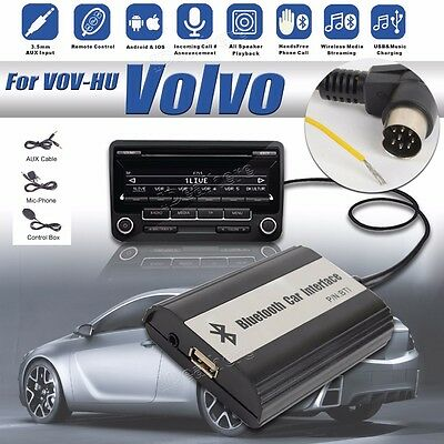 BlueTooth A2DP + USB Flash Drive Car Stereo Adapter Interface for Volvo Hu