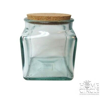 Eco Glass Canister Jar Confectionary Food Storage Tabletop Kitchen Deco 2.3L