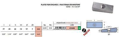Honda 75-130HP Outboard Engine Plate Anode Zinc - Original Part # 41109-ZW1-003