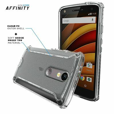Poetic Affinity Premium Thin Slim fit Bumper Case for Moto Droid Turbo 2 Clear