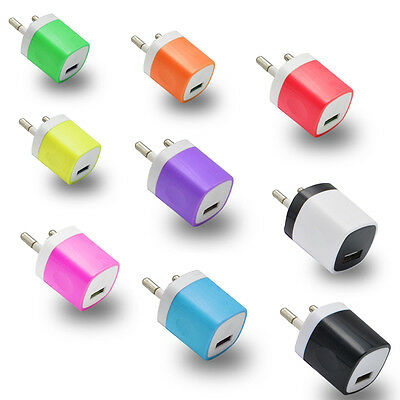 5V 1A USB Power Adapter AC Home Wall Charger for iPhone Samsung US/EU Plug Lot