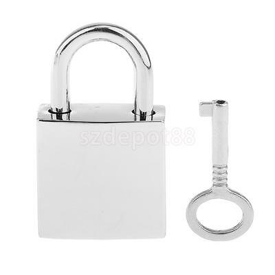 1 X Square Padlocks Mini Pad Locks Suitcase Luggage Bags Pad Lock Silver