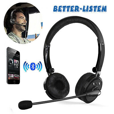 Over the Head Bluetooth Stereo Foldable Headphones Gaming Headset With Boom Mic