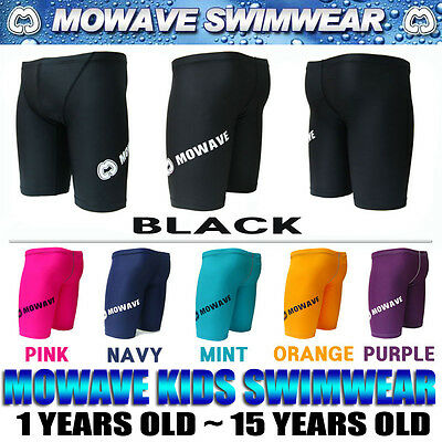 mowave kids boys competition swimwear swimming shorts jammer trunks 1~15yearsold
