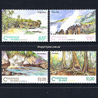 1993 - Australia - Christmas Island - Scenic Views - set of 4 - MNH