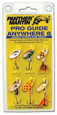 New Panther Martin Spinners Bait Pro Guide Anywhere 6 Deadly 6-Pack for Trout