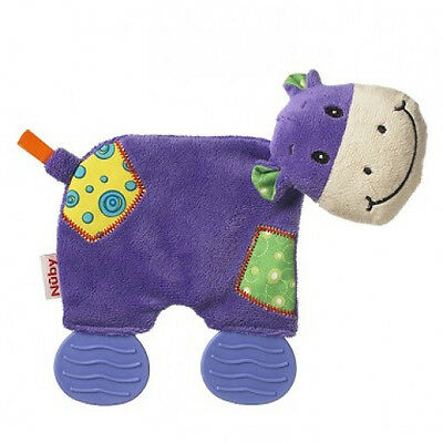 Nuby Art. 6176 Plush Pal Teether Toy - Purple Cow