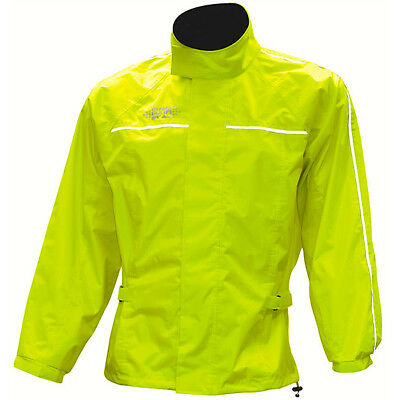 Oxford Rainseal All Weather Motorcycle Over Jacket - Fluorescent Yellow
