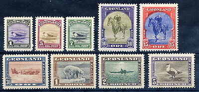 GREENLAND 1945 Pictorial definitive set MNH / **