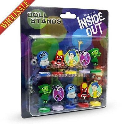 Inside out  Doll standing PVC Action Figures cars decoration Doll DIY toys