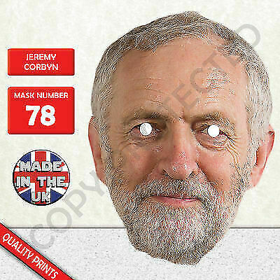 Jeremy Corbyn Version 2 Labour Politician Card Mask All Our Masks Are Pre-Cut!