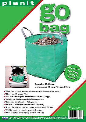 2 X GO BAGS - 120L Heavy Duty Garden Bag. Great for waste & storage. SAVE £1.20