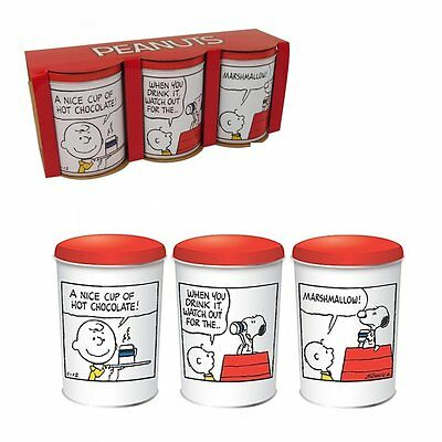 Peanuts Set of 3 Canisters Storage Tins Snoopy