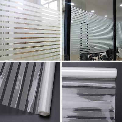 45x200cm Window Film Striped Shutters Sticker for Home Office Privacy Frosted UK