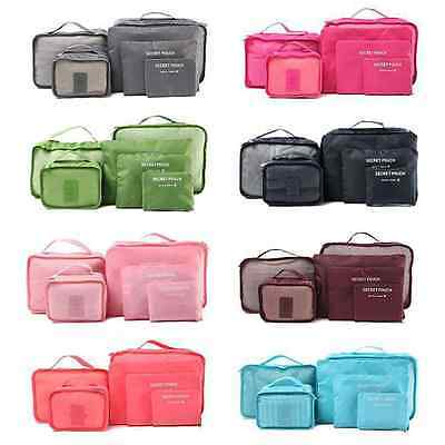 6Pcs Clothes Storage Bags Set Packing Cube Travel Home Luggage Organizer