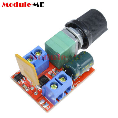 Mini DC 5A Motor PWM Speed Controller 3V-35V Speed Control Switch LED Dimmer M