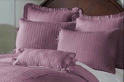 Noble Excellence Villa Sham King Milano New Purple Quilted Road Stitch Pattern
