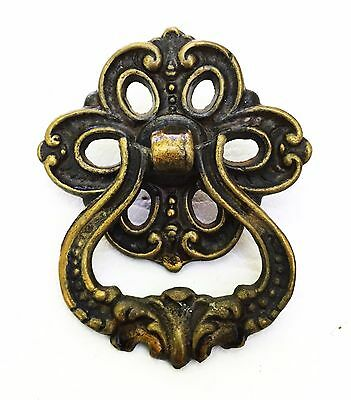 Brass Antique Drawer Pull Vintage Hardware Victorian Cabinet Knob Handle