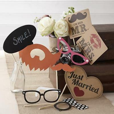 Ginger Ray Vintage Affair Wedding Photo Booth Kit -Wedding Props, Family Fun
