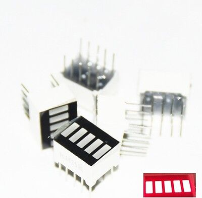 5pcs top new  LED Red Bargraph 5 Segment LED Display 5 LED Bar Display