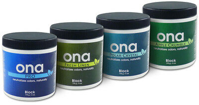 ONA Block/Spray Odour Neutralizing Agent Hydroponics Odour Neutraliser 4 scents!